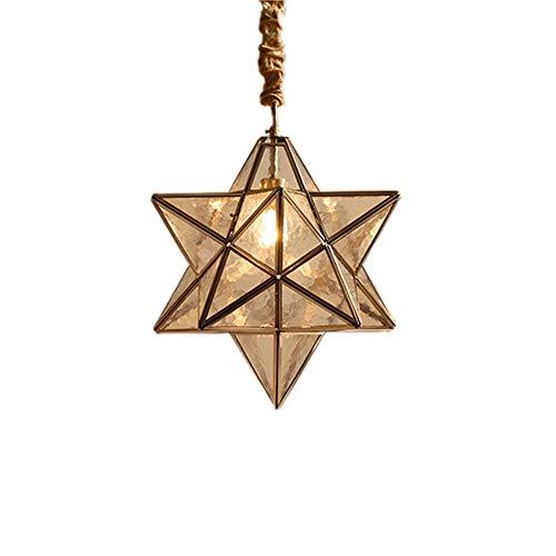 - Hlidpu Tiffany Style Pendant Light Lighting Moravian Star Ceiling Light Clear Glass Shade Lamp 1 Light, 15-in,Water