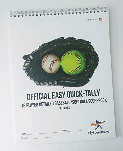 MyScorebooks Official 18 Player Baseball/Softball -