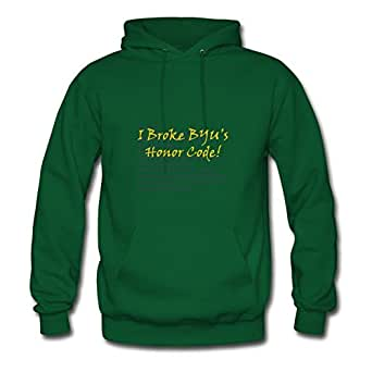 Chic Designed Green Women I Broke Byu's Hc! (yellow On Long Navy Old Eng) Regular Sweatshirts X-large