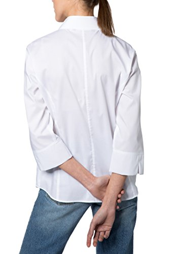 Blanco Uni 4 Stretch Modern Eterna Blouse Classic 3 Sleeve gHxw8qO6
