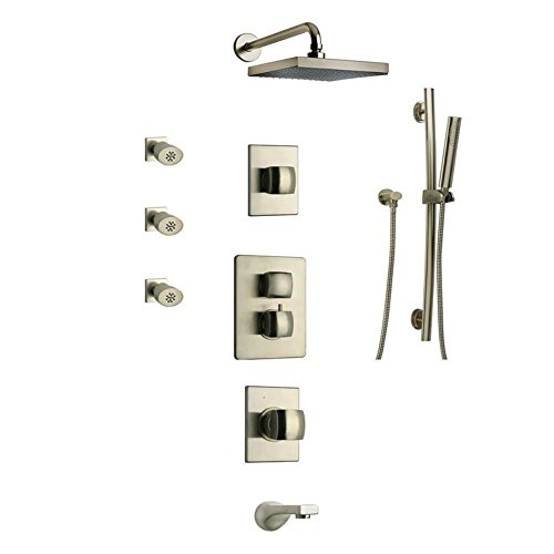 LaToscana LA-OPTION8PW Lady Thermostatic Valve with 3/4'' Ceramic Disc Volume Control, Brushed Nickel by La Toscana