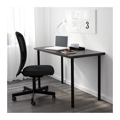galleon ikea linnmon desk with adils legs for multi purpose 47 1 4 x23 5 8 table black. Black Bedroom Furniture Sets. Home Design Ideas