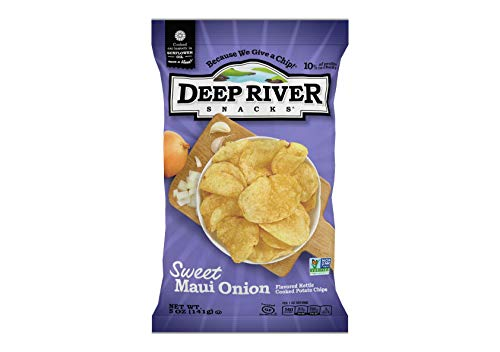 (Deep River Snacks Sweet Maui Onion Kettle Cooked Potato Chips, 5-Ounce (Pack of 12))