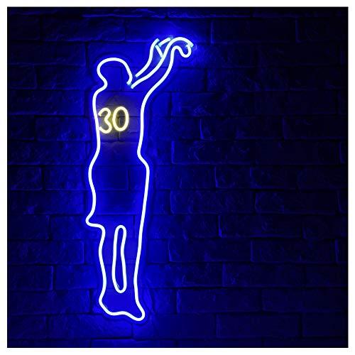 Basketball Shooter LED Neon Sign Lights Art Wall Decorative Lights (Blue) ()