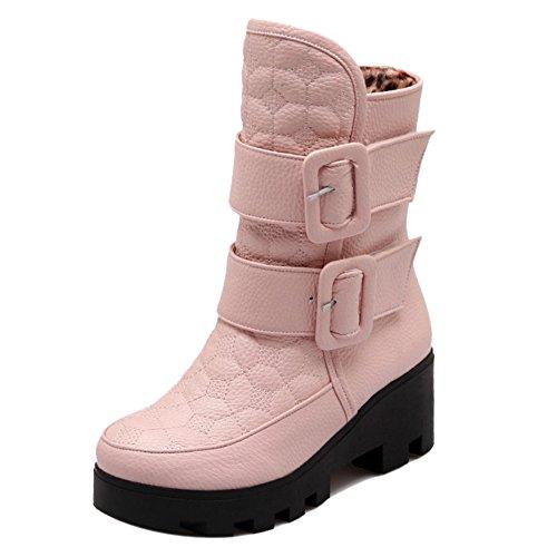 RAZAMAZA H Stiefel Damen Warm Winter Pink gqS0rgx