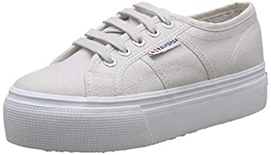 Superga 2790 Actow Line Lace Up Summer Casual Trainr Grey