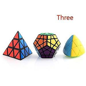Pyraminx Megaminx Pyramorphix Abnormity Speed Cube Puzzle Collection Irregular IQ Magic Cube Set Sticker and Stickerless 3Pieces - Ganowo