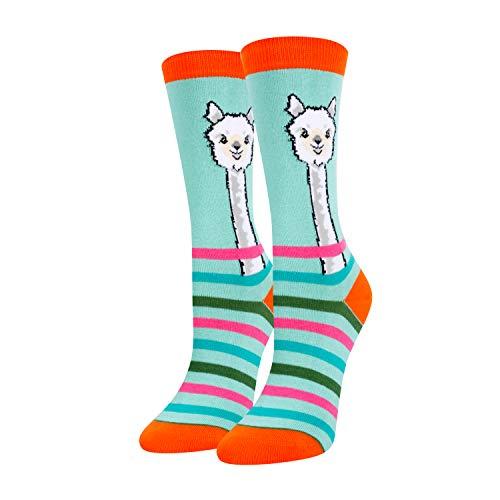 Zmart Girls Unicorn Llama Socks Cotton Crew Socks, Crazy Cute Socks for Kids