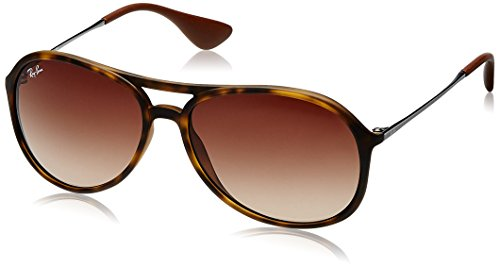 Ray-Ban ALEX - RUBBER HAVANA Frame BROWN GRADIENT Lenses 59mm - Ban Ray Rubber Havana