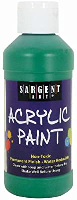 Sargent Art 22-2366 8-Ounce Acrylic Paint, Green