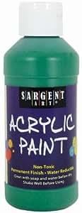 Sargent Art 22-2366 8-Ounce Acrylic Paint, Green