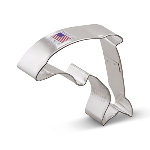 Ann Clark Dolphin Cookie Cutter - 4 Inches - Tin Plated Steel