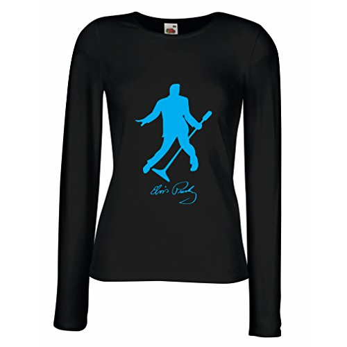 lepni.me Women's T-Shirt I Love You Elvis - King of Rock and Roll 50s, 60s, 70s Fan Outfits (Medium Black Blue) for $<!--$13.83-->