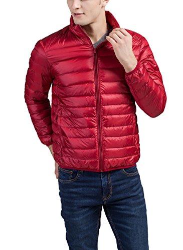 Panegy Piedi Leggera Packable Piumino Caldo Cappotto Puffa xxxl Collare Maschile In Rosso Imbottito RWFH1W