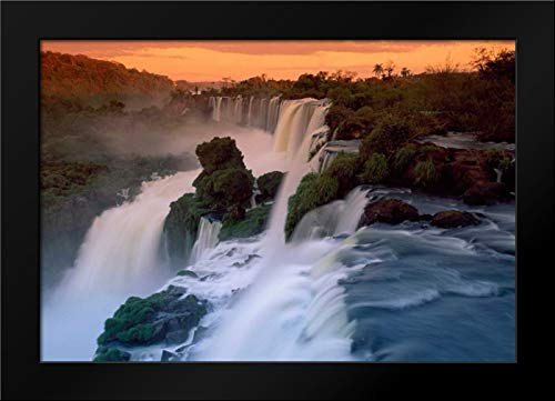 Park National Iguacu - Cascades of The Iguacu Falls, The Worlds Largest Waterfalls, Iguacu National Park, Argentina 24x18 Framed Art Print by Marent, Thomas