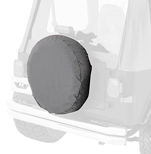 RAMPAGE PRODUCTS 773211 Universal Large Spare Tire Cover, 30-32 Inch Tire, Grey Denim