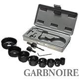 garbnoire 11 in 1 Metal Alloys Wood Hole Saw Cutting Set (19-64 mm, Black)