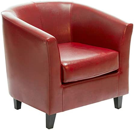 Great Deal Furniture Petaluma Oxblood Red Leather Club Chair