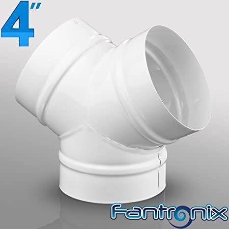 4' 100mm Plastic Round Kitchen Ducting Ventilation Duct Pipe Tube Extractor Fan (Round 90 Degree Bend) Fantronix