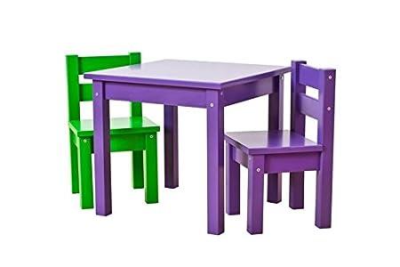 Hoppe Kids Lätt MADS: Mesa Lila, sillas Lila/Verde: Amazon.es: Hogar