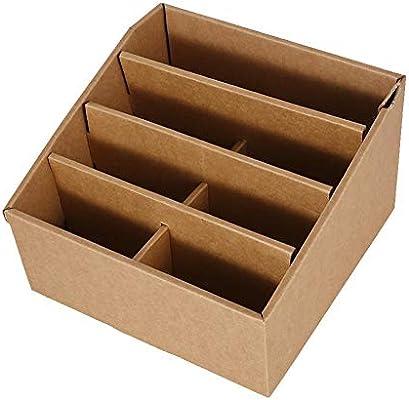 Alinory Caja de Archivo, Caja de cartón Plegable de Almacenamiento ...