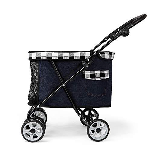 Ritioner DODOPET Pet Dog Stroller Pet Dog Foldable Carrier Strolling Cart Four Wheel Pet Stroller