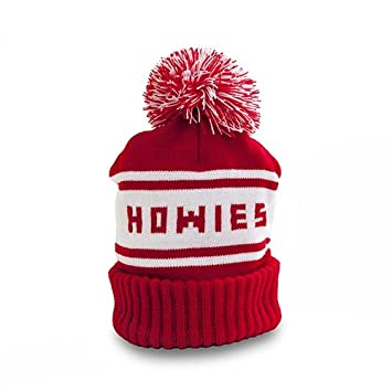 7af52227bd949 Howies Official Retro Beanie Hat Knitted Oversized Bobble Ski Hat Pom Pom  Red