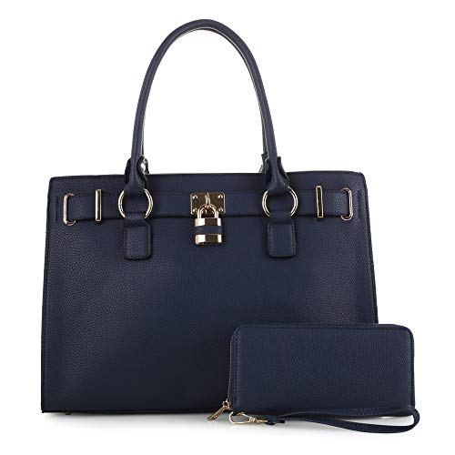 Concealed Carry Purse - Dina Lock Concealed Carry Satchel (Navy) ()