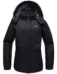 Wantdo Women's Hooded Mountain Outdoor Fleece Waterproof Windbreaker Ski Jacket