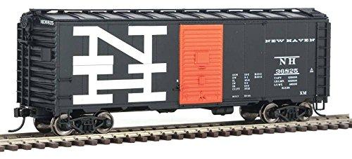 - 40' AAR 1944 Boxcar - Ready to Run -- New Haven #36825 (black, orange; Billboard NH Logo)