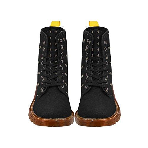 Leinterest Sparkling Skulls Martin Botas Zapatillas De Moda Para Mujer