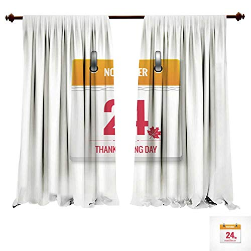DragonBuildingMaterials Panels Sun Blocking Curtains Thanksgiving Day Calendar Event Background Thermal Insulated ()