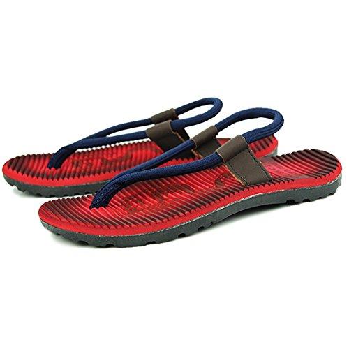 Fangda Avslappnad Beach Wear Flip-flop Sandaler För Manliga Röd