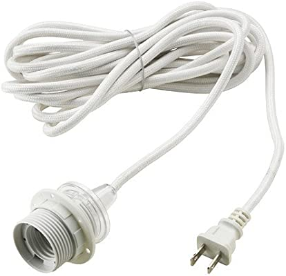 Ikea lamp wiring kit residential electrical symbols ikea cord set hanging pendant lamp white sekond 15 5 premium rh amazon com ikea lamp cord kit light kits for lamps greentooth Gallery