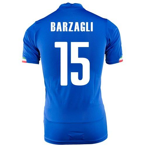 砲兵抑圧する路面電車PUMA BARZAGLI #15 ITALY HOME JERSEY WORLD CUP 2014/サッカーユニフォーム イタリア代表 レプリカ?ホーム用 ワールドカップ2014 背番号15 バルザーリ