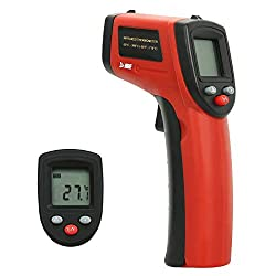 HDE Non-Contact Infrared Ther mometer Digital Laser Surface Temperature Gun with Backlit LCD Display - Range -26°F to 716°F (-32° to 380° Celsius)