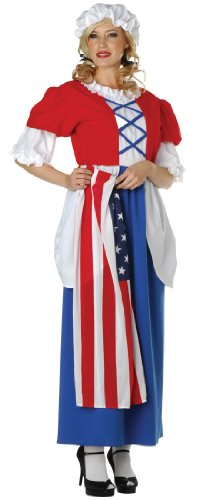 Adult Betsy Ross Colonial Costume - Womens Plus (16-18) ()