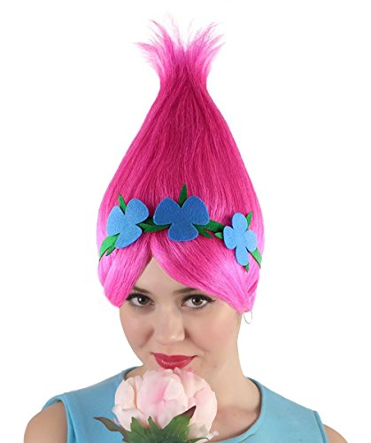 Princess Troll Wig, Pink Adult