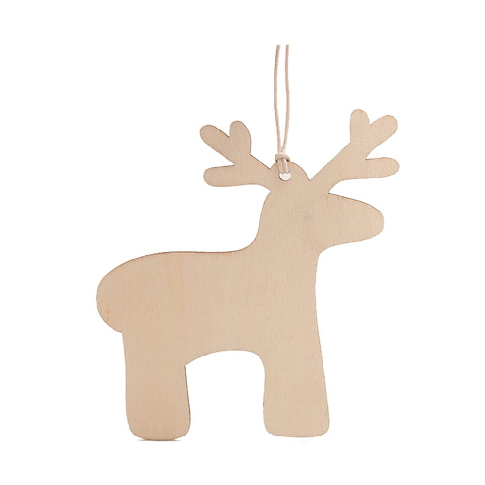 Christmas Tree Decorations, Jchen(TM) Happy Year Christmas Decor 10pcs Wooden Pendant Christmas Decorations Children's Home Decoration Gifts (A) by Jchen Christmas Tree Decor (Image #3)