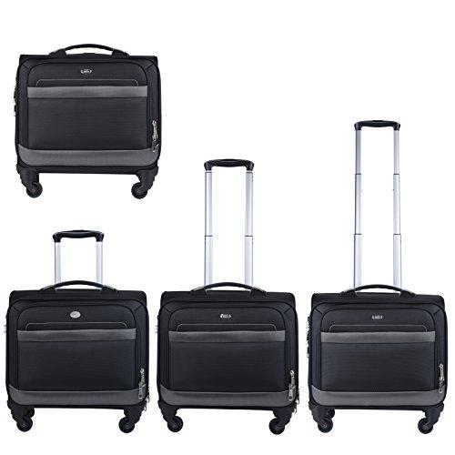 Rolling Laptop Case, COOFIT Nylon Rolling Laptop Briefcase Roller Laptop Bag by COOFIT (Image #4)