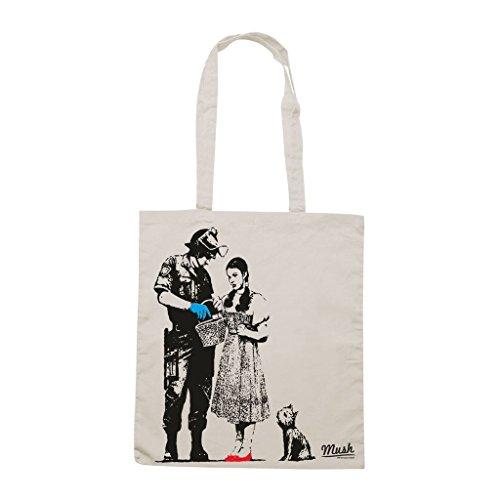 Borsa Banksy Oz Poliziotto - Panna - Famosi by Mush Dress Your Style