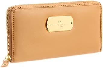 Tommy Hilfiger TH School Boy Plaque-Zip Around Napa Wallet,Khaki,One Size