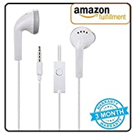 V CAN YS Earphones with Ultra Bass & Dolby Sound 0.33mm Jack for All Samsung/Anroid/ iOS Devices - (White)