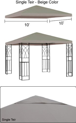 Gothobby 10 X 10 Gazebo Replacement Canopy Top Cover