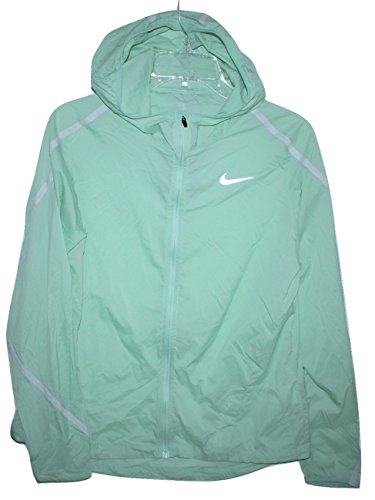 Nike Shield Women's Size M Enamel Green Impossibly Light Windbreaker Running Jacket (Nike Raincoat Jackets)