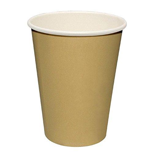Paquete de: 50 Vasos bebidas calientes marrones Fiesta 227ml x50 RBD-GF031