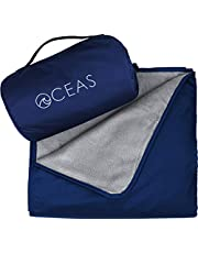 Oceas Outdoor Waterproof Blanket Warm Fleece Great for Camping, Outdoor Festival, Beach, and Picnic Use – Extra Large All Weather and Waterproof Throw Blanket