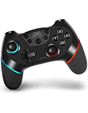 Wireless Controller for Switch, Pro Controller Gamepad Remote Joystick for Nintendo Switch Console, Game Controller with Turbo, Gyro Axis, Dual Shock and Motion Control