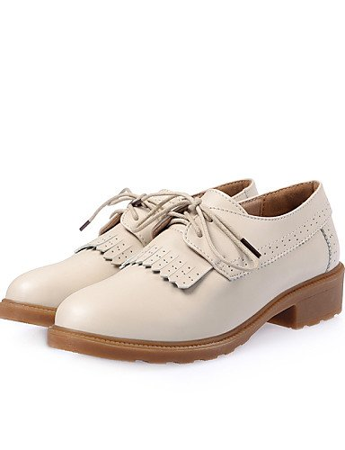 Eu36 comfort 5 Brown Njx 5 Mujer 5 5 Cn35 Beige De Bajo Brown Zapatos negro casual Hug oxfords cuero Eu39 Uk6 Marrón Uk3 us5 us8 Cn40 tacón xwYq4gOApw