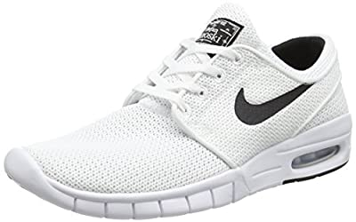 Nike Men's Stefan Janoski Max White/BlackSneakers - 4.5 D(M) US